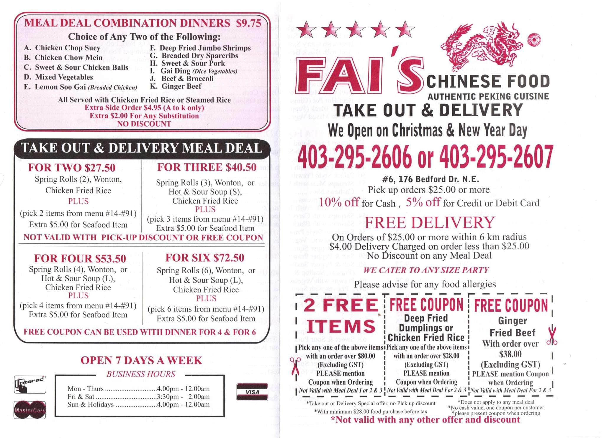 Chinese Restaurant Delivery Calgary