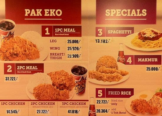 Texas Chicken Singapore Menu Texas Chicken Cijantung Menu
