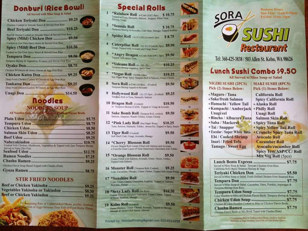 Kelso (WA) United States  city photo : Please sign in to view this menu