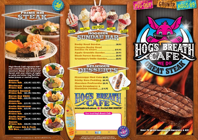 Hogs Breath Drinks Prices