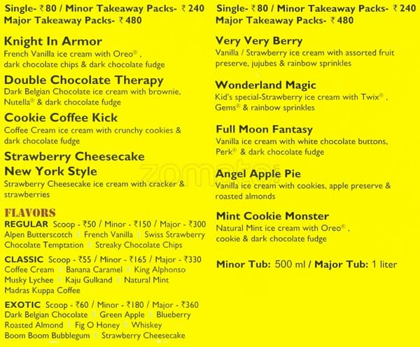 Hokey Pokey Ice Cream Menu Hokey Pokey Ice Cream